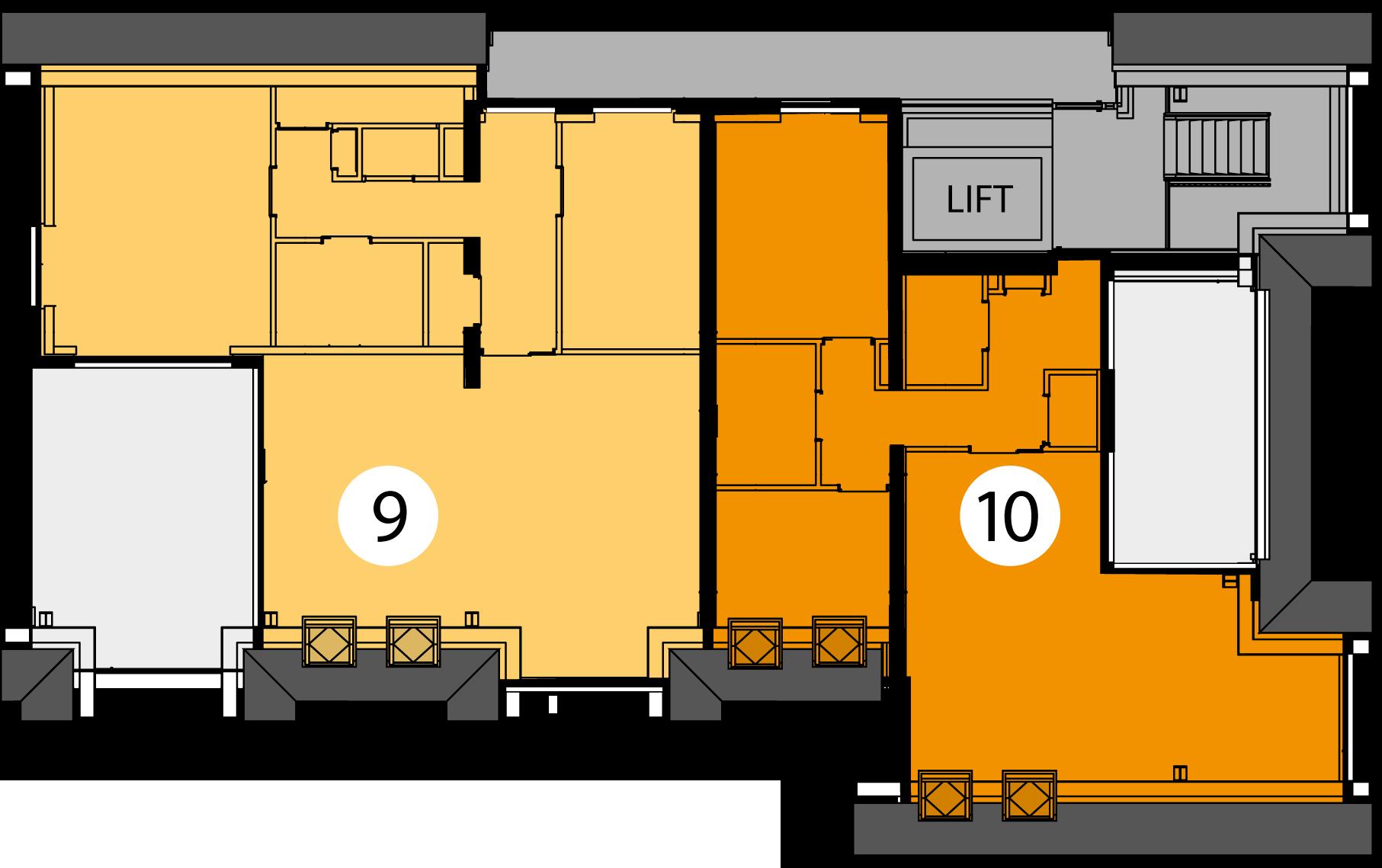Appartementen 9 en 10