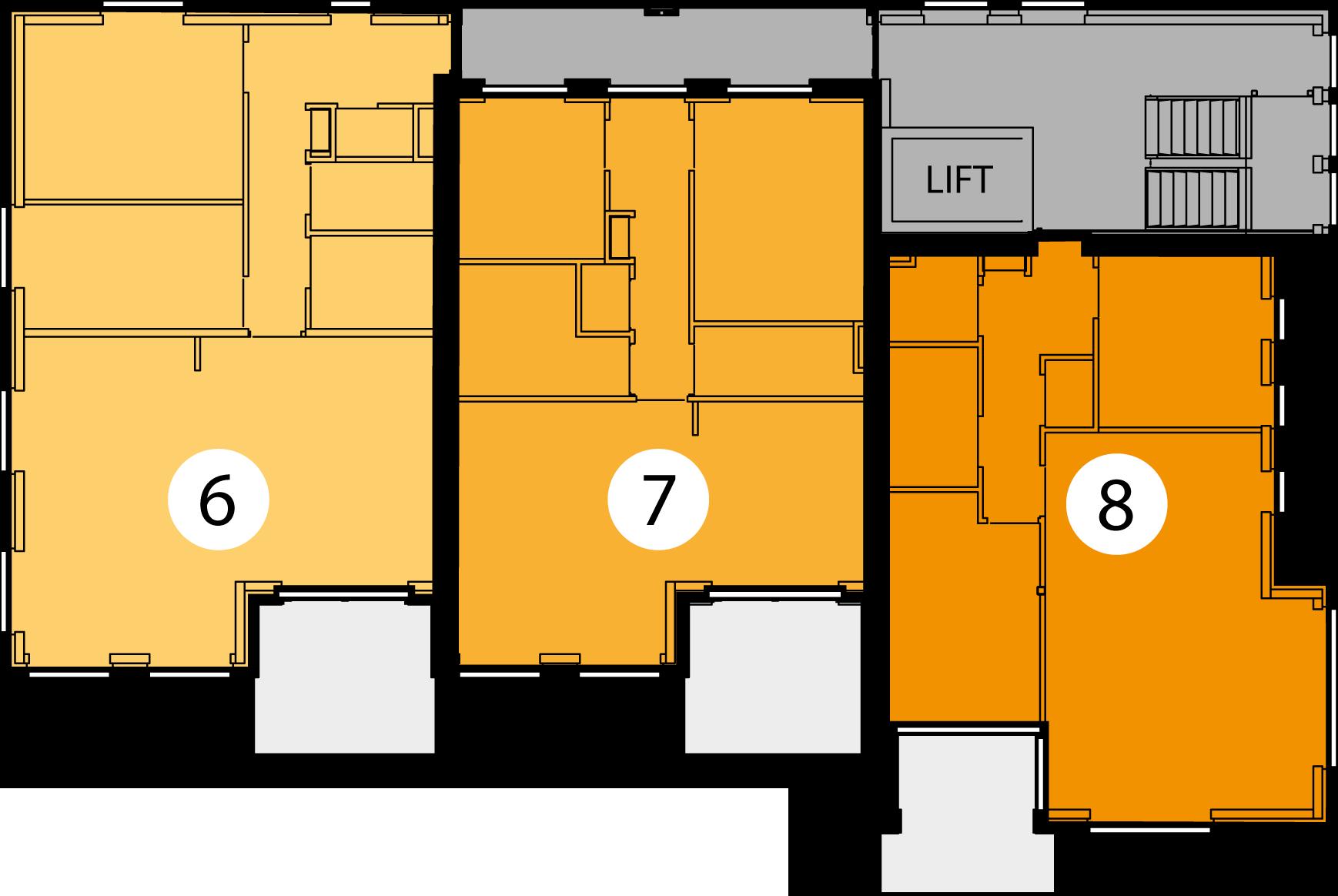 Appartementen 6, 7 en 8